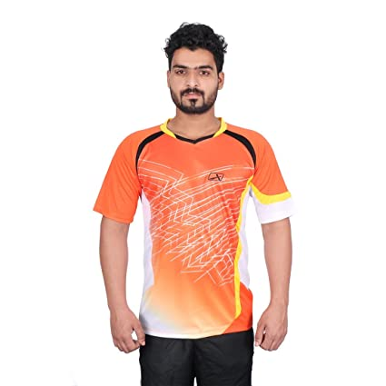 Vector X VRS-007 Sublimation T-Shirt (Orange) Men's Running T-Shirts at amazon