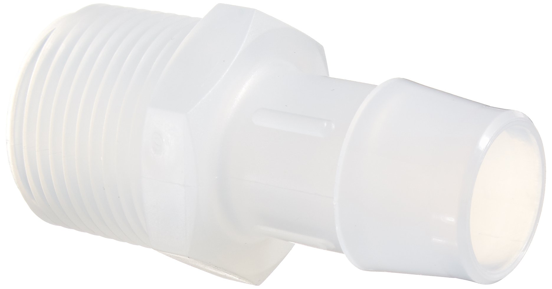 Eldon James A12-12PP Non-Animal Derived Polypropylene Adapter Fitting, 3/4-14 NPT to 3/4'' Hose Barb (Pack of 10)