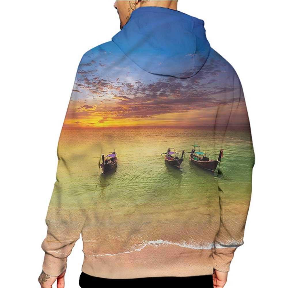 Hoodies Sweatshirt/ Men 3D Print Tribal,Foliage Leaves Primitive,Sweatshirts for Men Prime