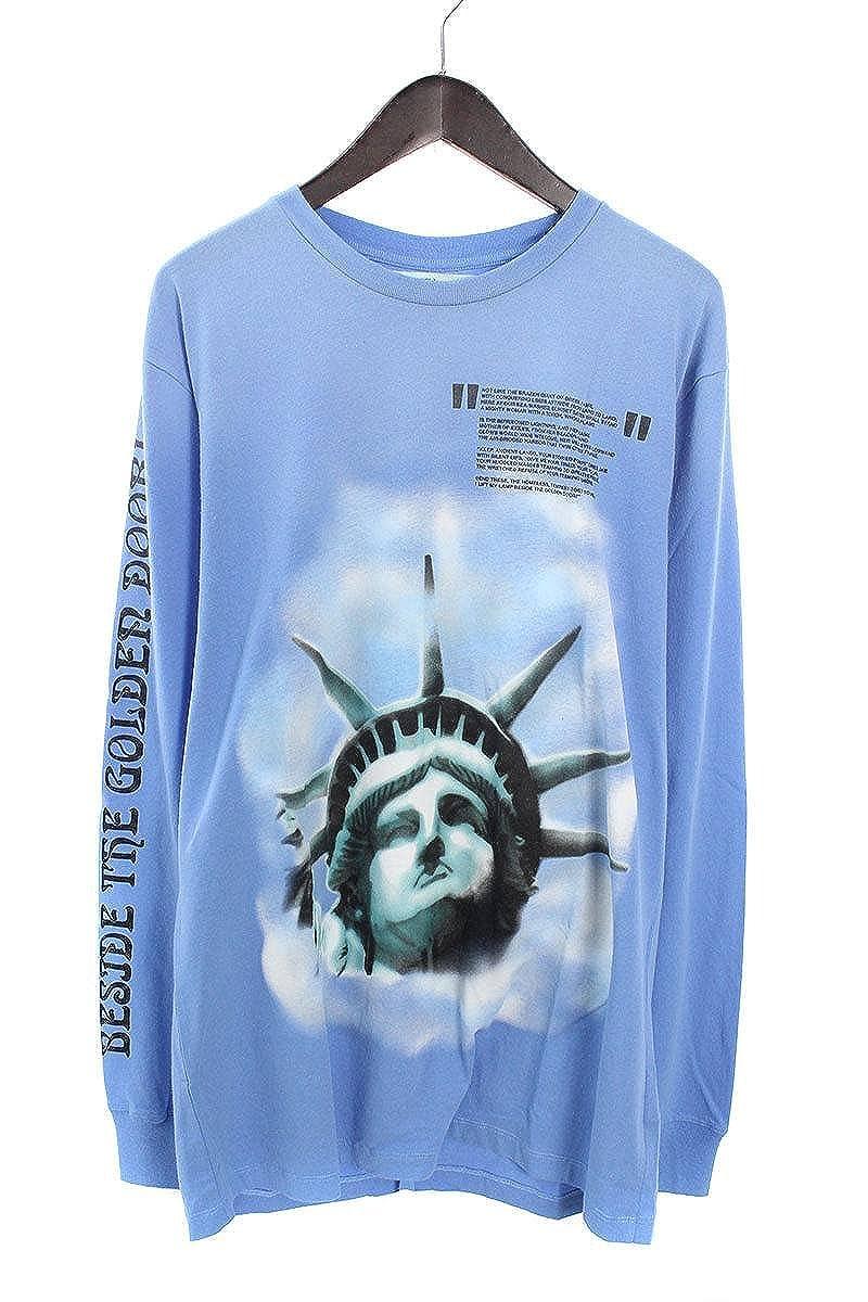 (オフホワイト) OFF-WHITE 【18AW】【BLUE LIBERTY L/S T-SHIRT】リバティープリント長袖カットソー(XL/ブルー) B07FQPRVK8
