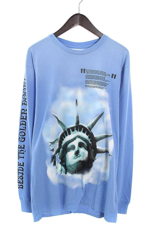 (オフホワイト) OFF-WHITE 【18AW】【BLUE LIBERTY L/S T-SHIRT】リバティープリント長袖カットソー(XL/ブルー) B07FQPRVK8  -