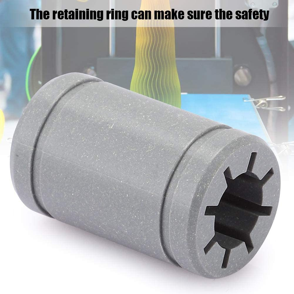 for Automation Equipment Junluck Gray Solid Polymer Retaining Ring 3D Printer Accessories 8mm Inner 16mm Outer 5pcs Plastic Bearing