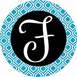 Accent Magnet-Whimsy-F-Monogram - Auto - Home - Kitchen -Yard -Six (6) Inch - Made in USA - Licensed , Copyrighted by Custom Decor Inc.