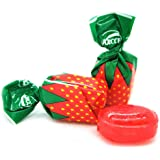 Arcor Strawberry Buds Filled Hard Candy Bon Bons Bulk | 3 Pounds