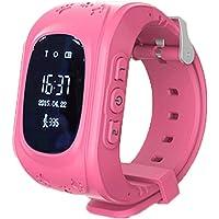 332PageAnn Reloj Inteligente Niño Q50 Deportivo Bluetooth Smartwatch En La Muñeca SOS Emergencia Fitness Tracker Pantalla Táctil Ranura para Android Azul Rosado Verde(GPS no es Compatible)