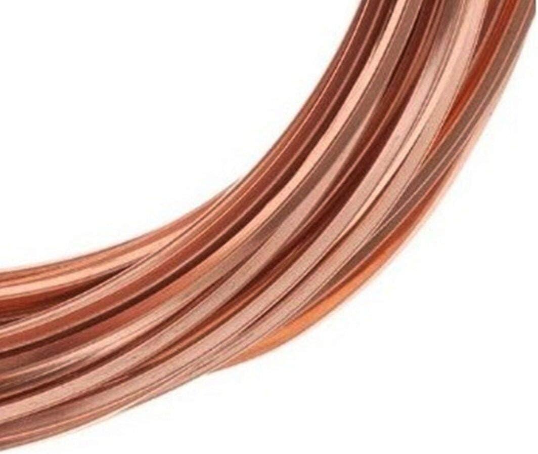 14 Ga - 25 Ft Coil Square Copper Wire//Dead Soft