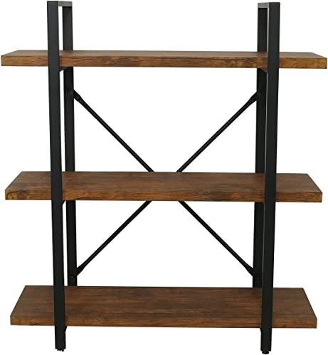 eclife Bookcases Furniture Shelves 3 Tier Rustic Pipe Shelving Unit Vintage Industrial Pipe Storage Shelf