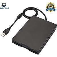 "Galaxy Hi-Tech® Floppy Drive 3.5"" USB External Floppy Disk Drive Portable 1.44 MB FDD USB Drive Plug and Play for PC Windows 10 7 8 Windows XP Vista Mac Black - No External Driver,Plug and Play"