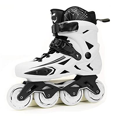 Sljj Adult Inline Skates, Professional 88A Wheel White and Black Speed Roller Skates for Beginner Men Women (Color : White, Size : 35 EU): Home & Kitchen
