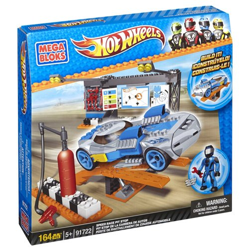 Mega Bloks Hot Wheels Speed Race Pit Stop - Racers Race Rig