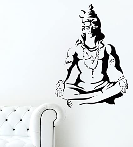 Luke and lilly lord shiva wall sticker pvc vinyl60 cm x 85 cm