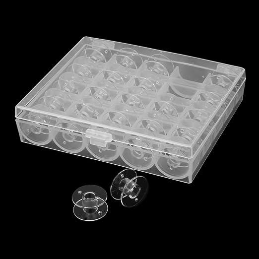 IPOTCH 25x Hilo De Máquina De Coser Bobinas Vacías Y Caja para Carretes De Caja De Almacenamiento Janome: Amazon.es: Hogar