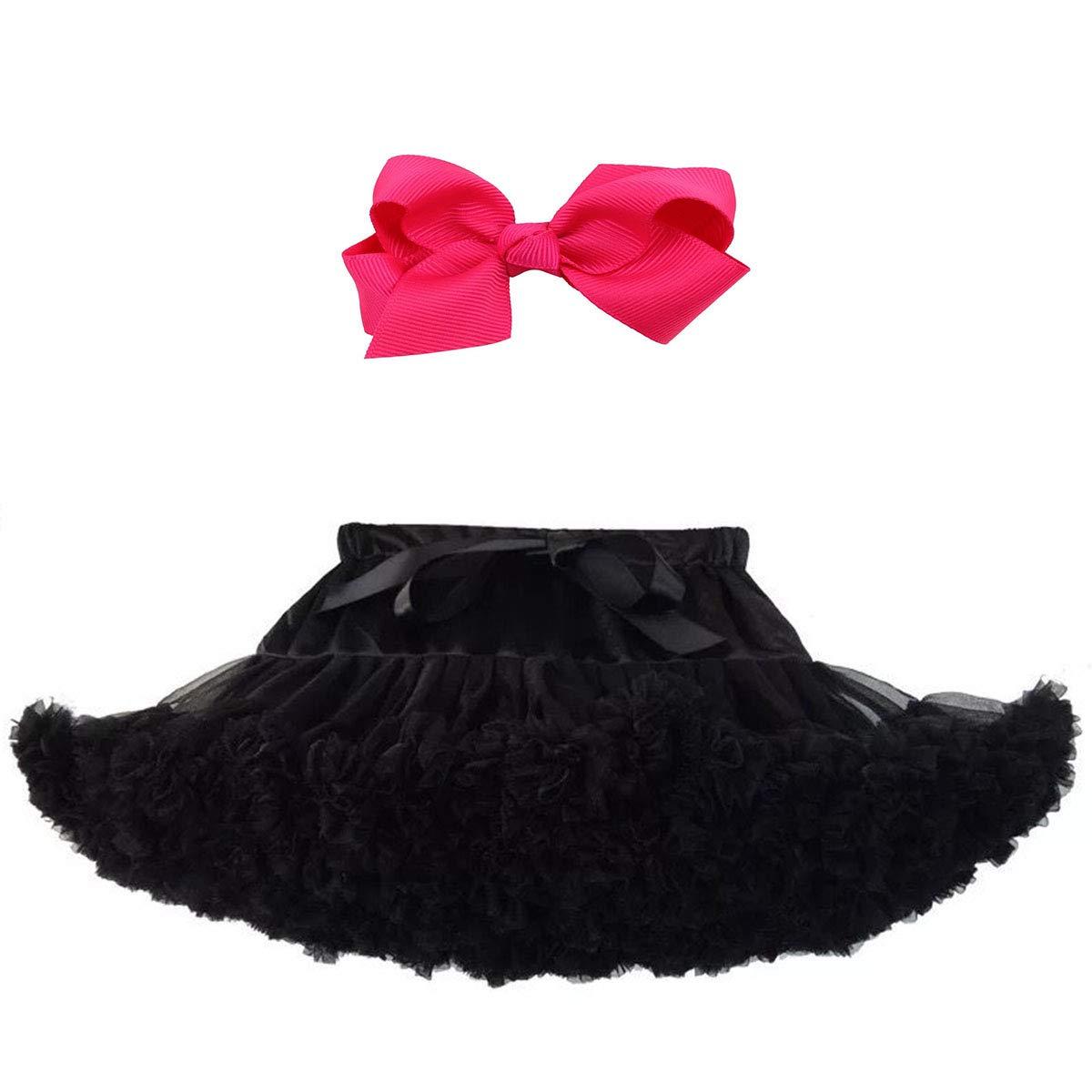 Z-YQL Baby Girls Dance Tutu Pettiskirt Multi-Layer Princess Ballet Tutu Dance Skirt with Hair Clip