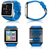 PinPle® Nice Replacement Accessory Wristband Watchband For iPod Nano 6 iWatchz Q (Blue)