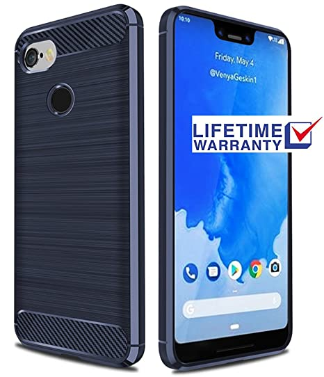 buy online 6ea5f b1215 Pixel 3 XL Case, Google Pixel 3 XL Case, Asmart Shock Absorption Google  Pixel 3 XL Phone Case Slim TPU Bumper Cover Soft Flexible Carbon Fiber ...
