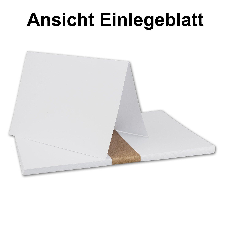 100x weißes DIN A6 Falt-Karten-Set mit Leinen-Prägung I 10,4 x x x 14,8 cm - mit Brief-Umschlägen & Einlege-Blätter I Papier-Bastel-Set mit Leinen Oberfläche I von Gustav NEUSER® B07DL4H1PG   Verwendet in der Haltbarkeit  8828e5