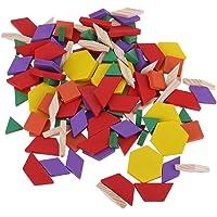 Domybest 125parça/Set Ahşap Çocuk DIY Yapboz Tangram çocuk öğrenme oyuncağı