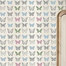 Butterfly Wallpaper Repeat Wall Stencil