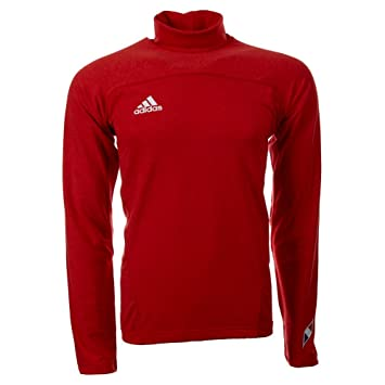 Adidas Mens Long Sleeve Turtleneck Sweater Red 8: Amazon.co