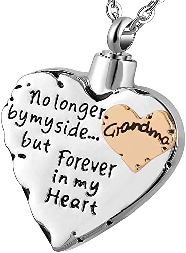Mom Forever In My Heart Cremation Jewelry Ash Urn Necklace Pendant Keepsake