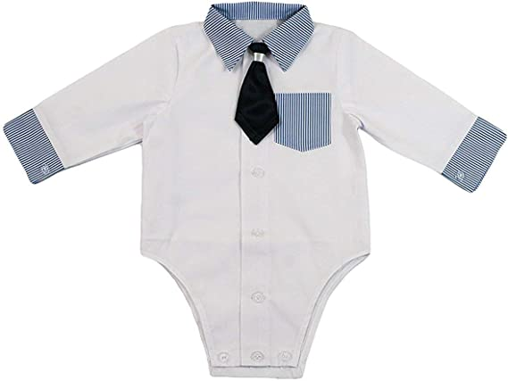 Camisa bebé niño niños Bautizo Body Camisa Boda Traje Body, 2 ...
