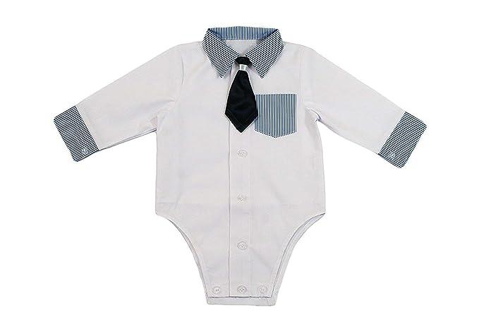 Camisa bebé niño niños Bautizo Body Camisa Boda Traje Body ...