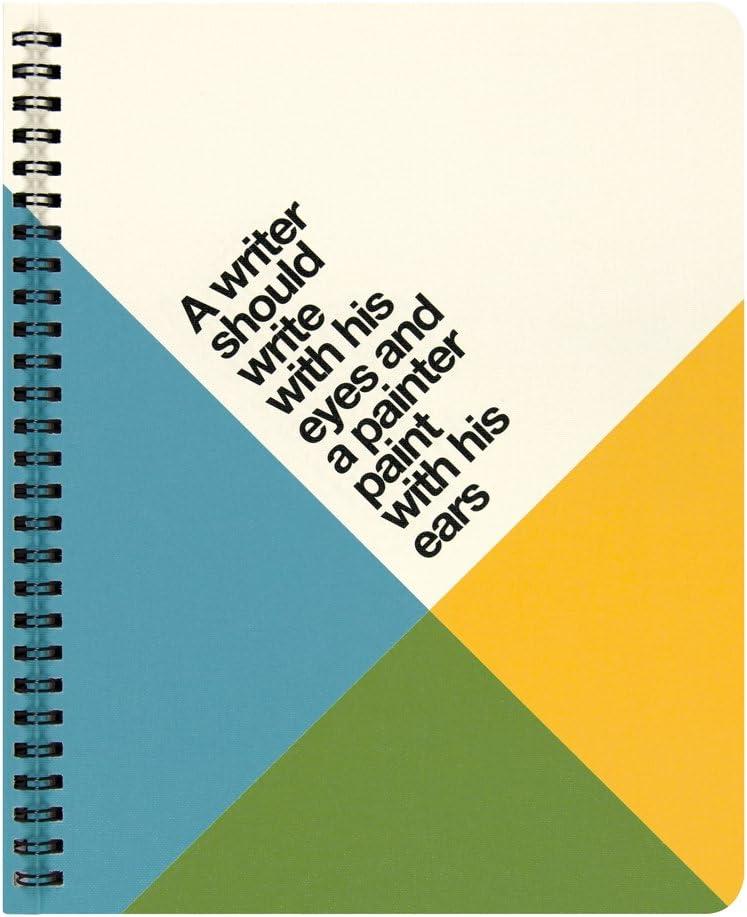 Formato Regular 195 x 240 mm Pagina a Quadretti Ogami Notebook Quotes Writer Quaderno Stile Vintage di Carta REPAP con Copertina Flessibile