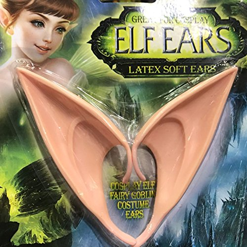 Addision 1 Pair Cosplay Masks Soft Fairy Pixie Elf Ears Accessories Halloween Party Pointed Prosthetic Tips -