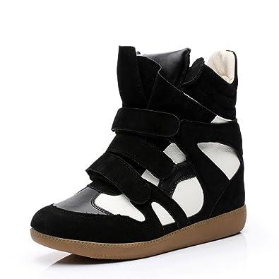 Mode Compensée Chaussure Sneakers Talon 6 CM de Femme Montante zVpUSM