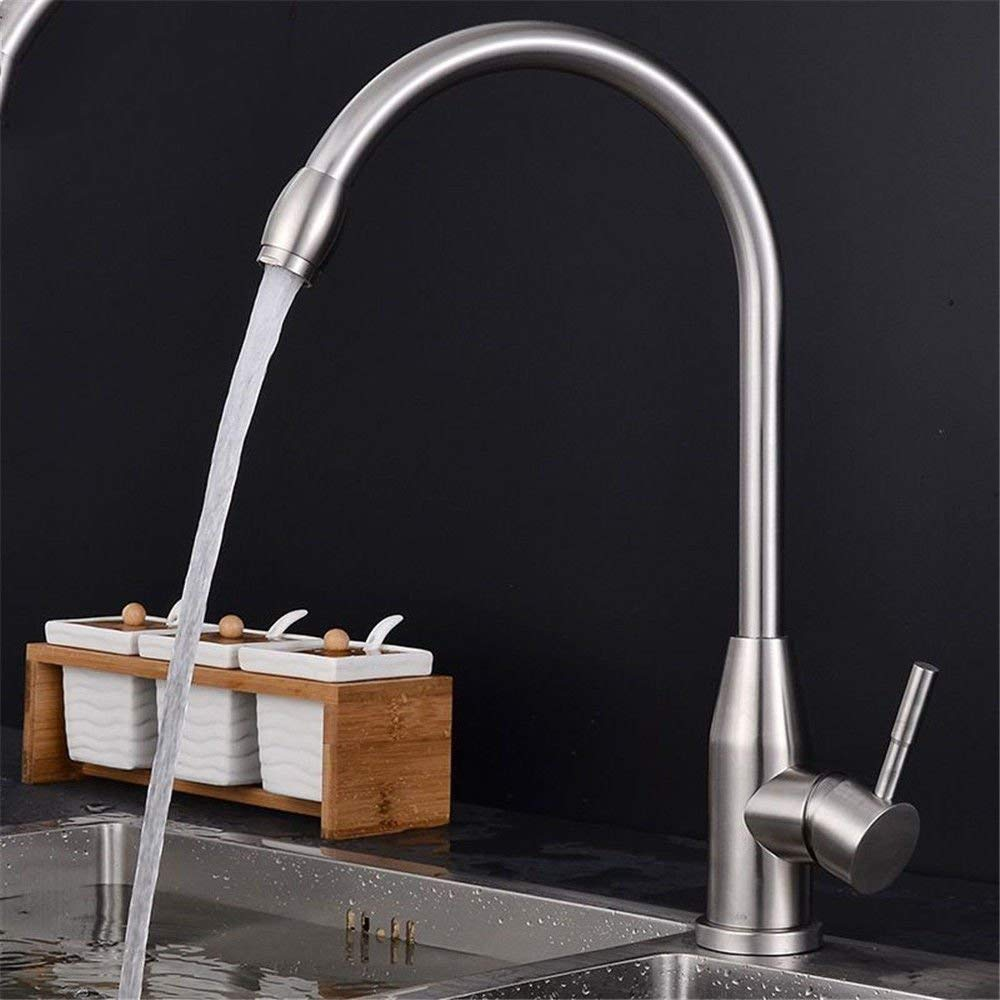 Eeayyygch Küche Bad Becken waschbecken mischbatterie Wasserhahn 304 Edelstahl Heißes und kaltes Wasser küche waschbecken Wasserhahn mischbatterie (Farbe   -, Größe   -)