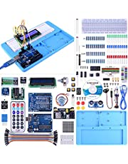UNO Starter Kit for Arduino, UNIROI Complete Arduino Beginner Kit with Detailed Tutorials, RAB Holder, Breadboard for Arduino UNO R3 Mega 2560 Robot Nano (52 Items) UA005