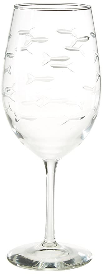 Amazon Rolf Glass School Of Fish Large Wine Glass 18 Ounces