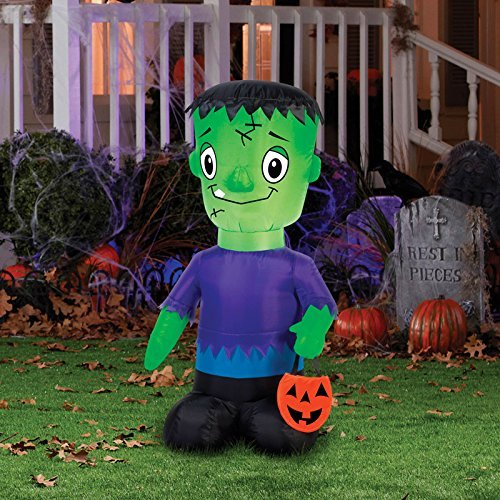 Gemmy 71019 Halloween Airblown Frankie Lighted Inflatable, 9-13/16