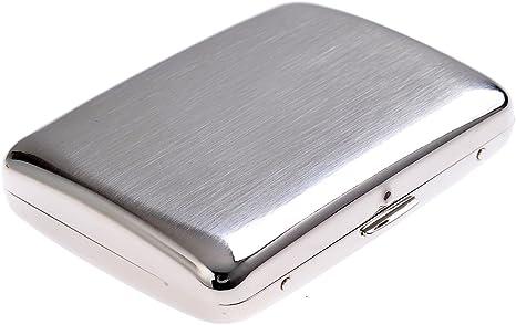 Imagen dePitillera de Acero Inoxidable, diseño años 20, para 16 cigarros, KC3-01