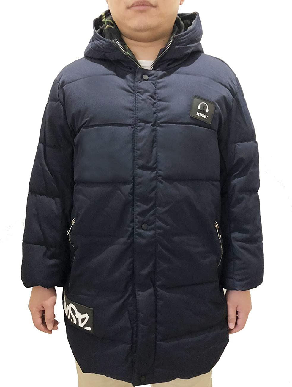Zoulee Mens Fashion Winter Thick Puffer Jacket Coat with Hood Large Size