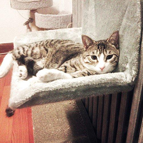 Rainflower Pet Durable Cat Hanging Beds Pets Hammock For Chairs Handrail Door,Grey