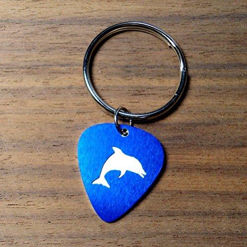 Cut Dolphin Ring - Dolphin Key Ring Key Chain Cut In An Aluminum Guitar Pick
