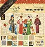 Graphic 45 4501000 Deluxe Collector's Edition Pack, 12 by 12-Inch, Times Nouveau