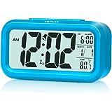 "[Upgrade Version] ZHPUAT 4.6"" Smart Backlight Alarm Clock with Dimmer (Blue)"