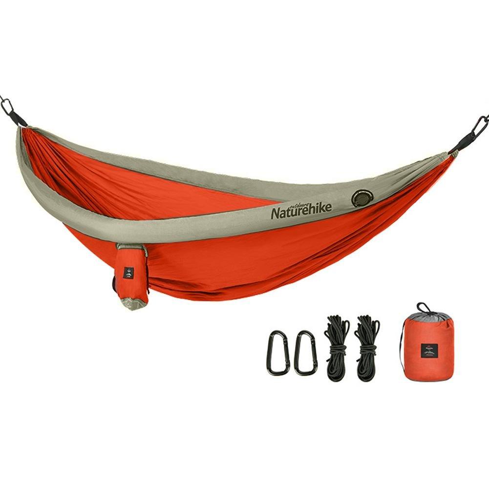 Seawang Tragbare Outdoor Camping Home Garten 2Personen Fallschirm Hängematte aufhängen Bett