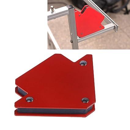 UKCOCO Soporte de soldadura magnético hasta 25 libras de resistencia imanes fuertes Forma de flecha para