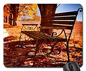 October Mouse Pad, Mousepad (Watercolor style) by runtopwell