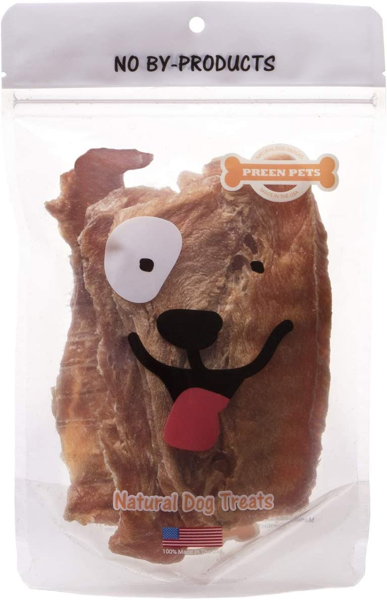 Preen Pets Chicken Breast Jerky Dog Treats – 100 USA Lean Chicken Breast
