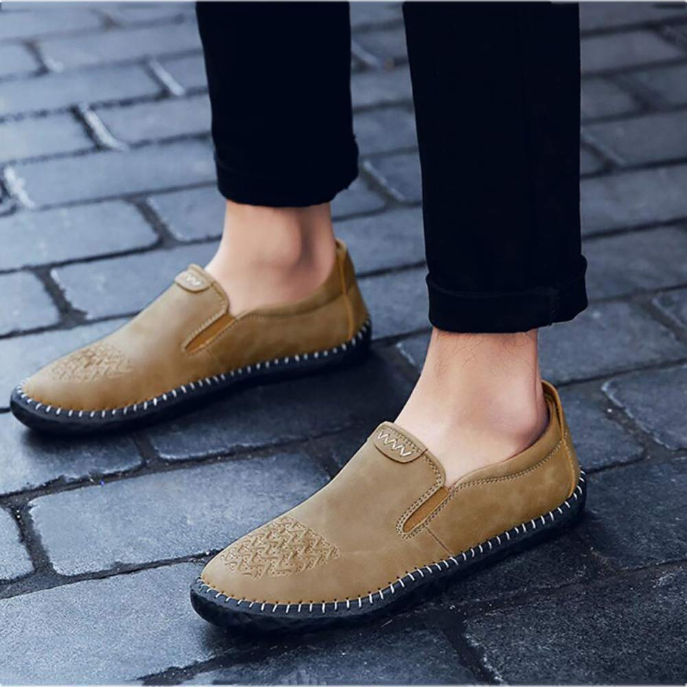Herrenschuhe, Frühling Herbst Herbst Herbst Leathe Comfort Loafers & Slip-Ons, Lässige Mode Faule Schuhe, Breathable Driving Fashion Schuhe, Casual Büro & Karriere Party & Abend (Farbe   B, Größe   39) cc48f1