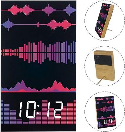 Bennigiry - Reloj de Mesa Digital electrónico de Madera con diseño ...