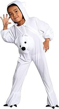 J45 Disfraz de oso polar, Tallas 3-4 años (98-104 cm), Trajes de ...