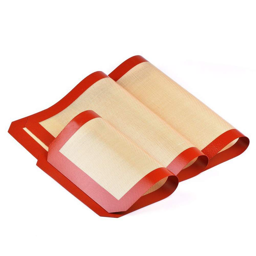 GYFHMY Set of 3 Premium Non-Stick Silicone Baking Mat Food Safe Tray Pan Liners Non-Slip Pastry Counter Rolling Oven Kitchen Liner Cookie Bun Bread Making by GYFHMY