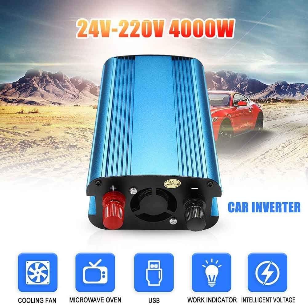 24V To 220V-4000W wokee 3000W//4000W Auto Energia Solare Inverter Dc 12//24V a AC 220V Modificato Sinusoidale Wave Convertitore