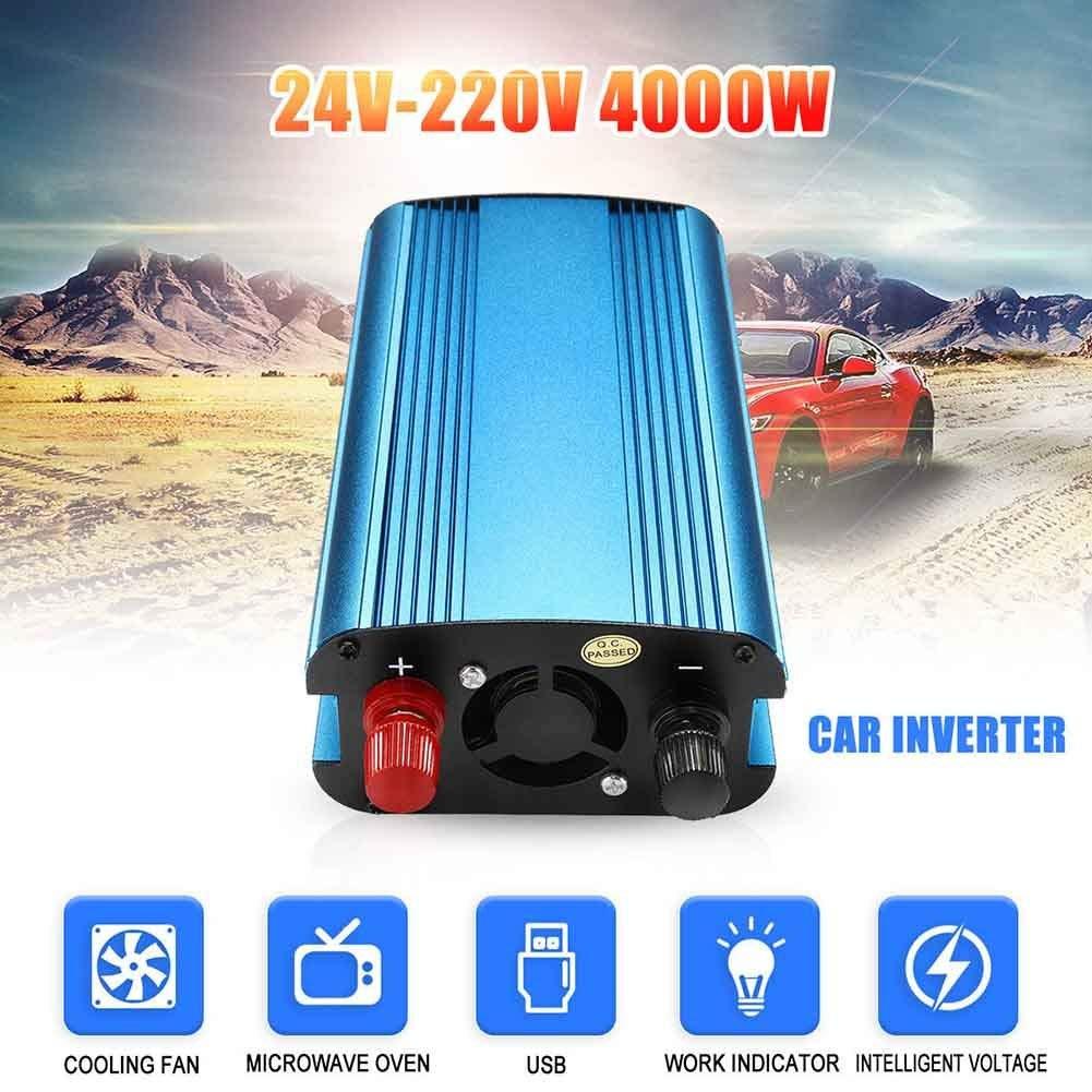 12V to 220V 4000W Style EliteMill 3000W//4000W Voiture /Énergie Solaire Onduleur DC 12//24V /à AC 220V Modifi/é Sinus Wave Convertisseur