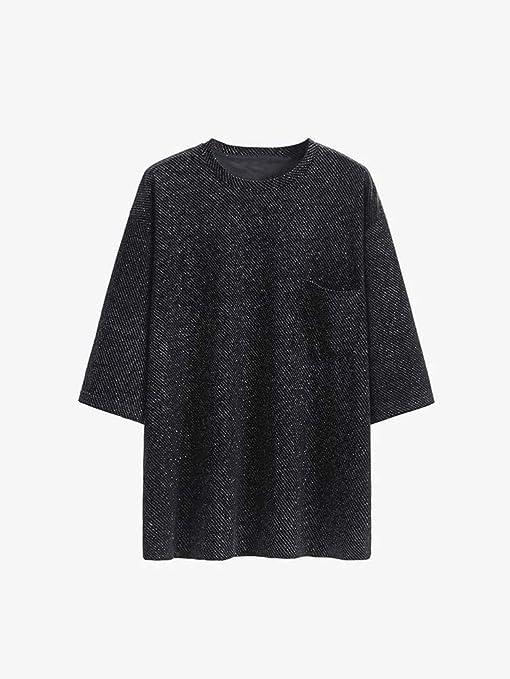 O&YQ Camiseta Brillante con Diamante de Manga Corta para Mujer, Manga Corta, Media Manga, Camisa Negra, Negro, SG: Amazon.es: Deportes y aire libre
